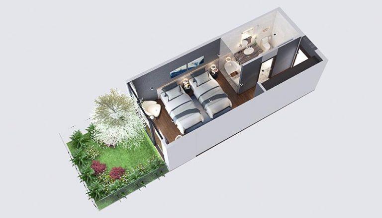 Mẫu thiết kế phòng khách sạn Flamingo Cát Bà