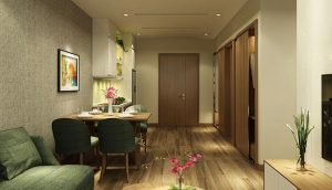 Mẫu thiết kế 1 phòng ngủ Flamingo Cát Bà