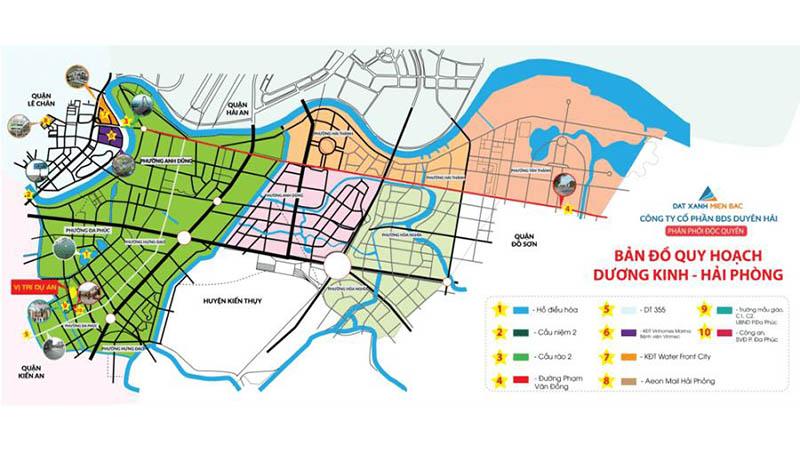 Vị trí dự án đất nền Đa Phúc Central Park Dương Kinh Hải Phòng